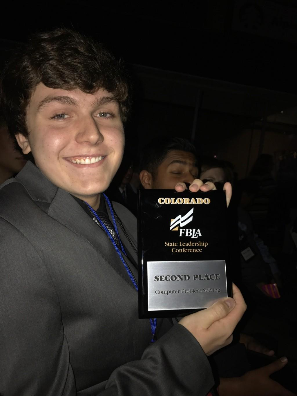 High School student has just won second place at FBLA State competition