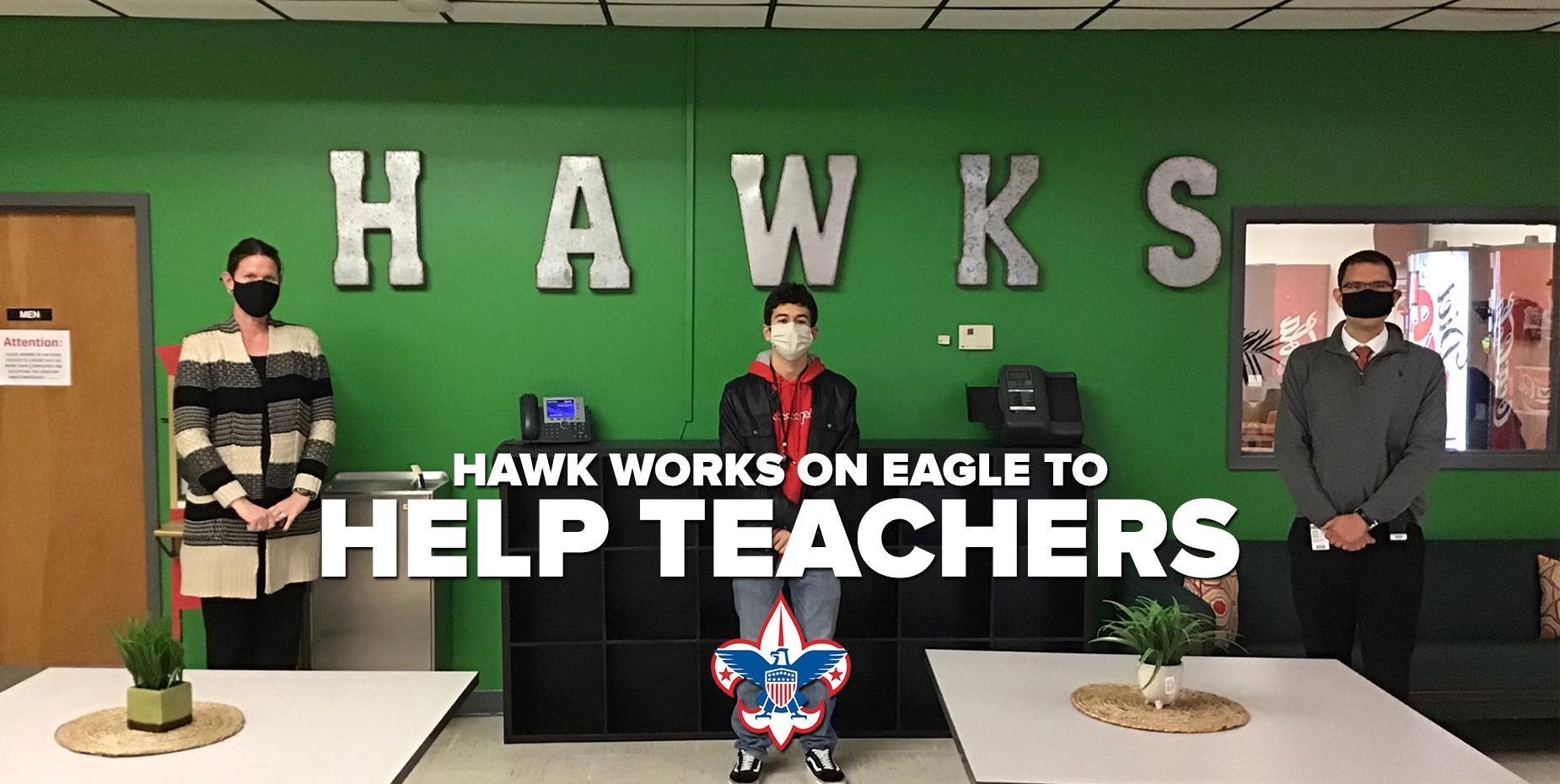 Hawk works on Eagle to help teachers