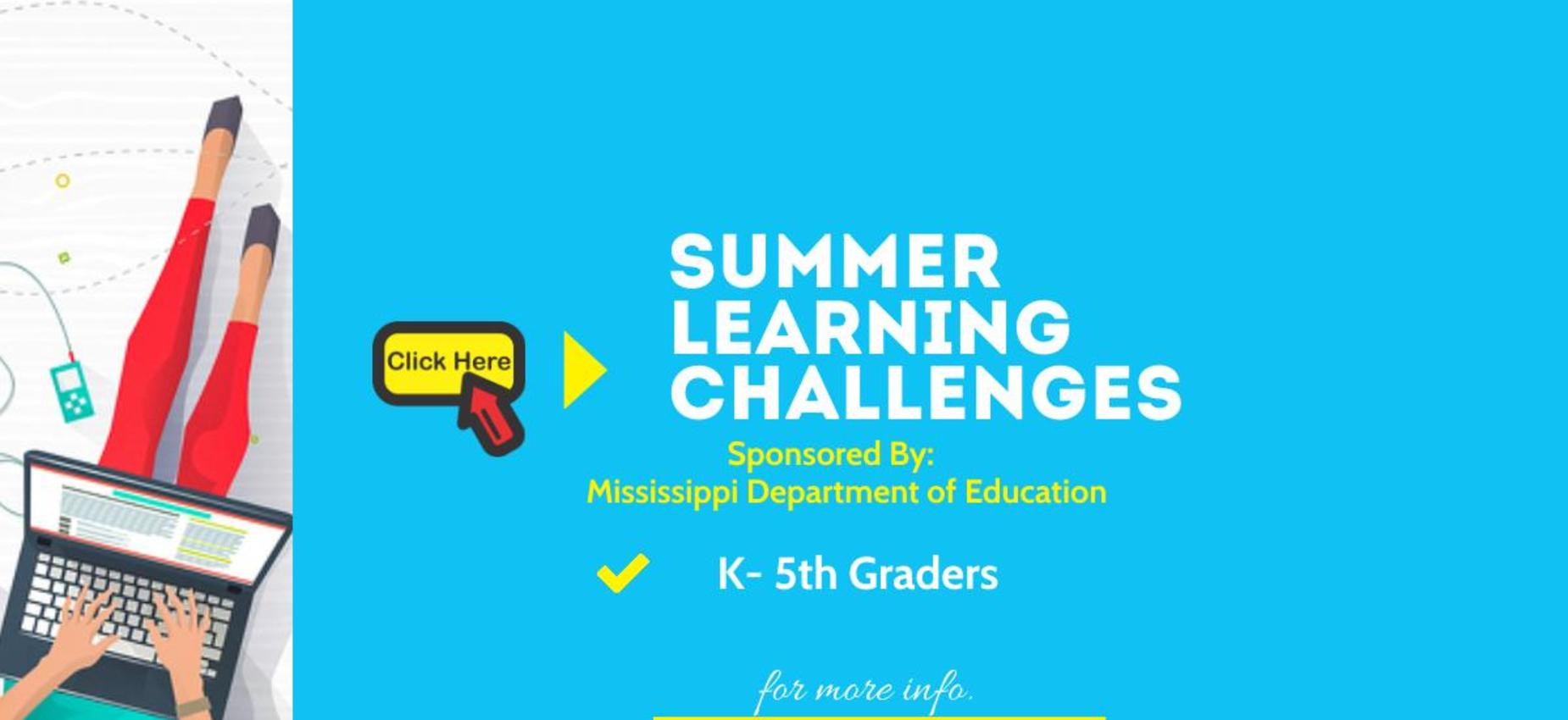 Summer Learning Challenges Graphic