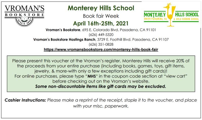 MHS Virtual Book Fair Apr. 16-25 Featured Photo