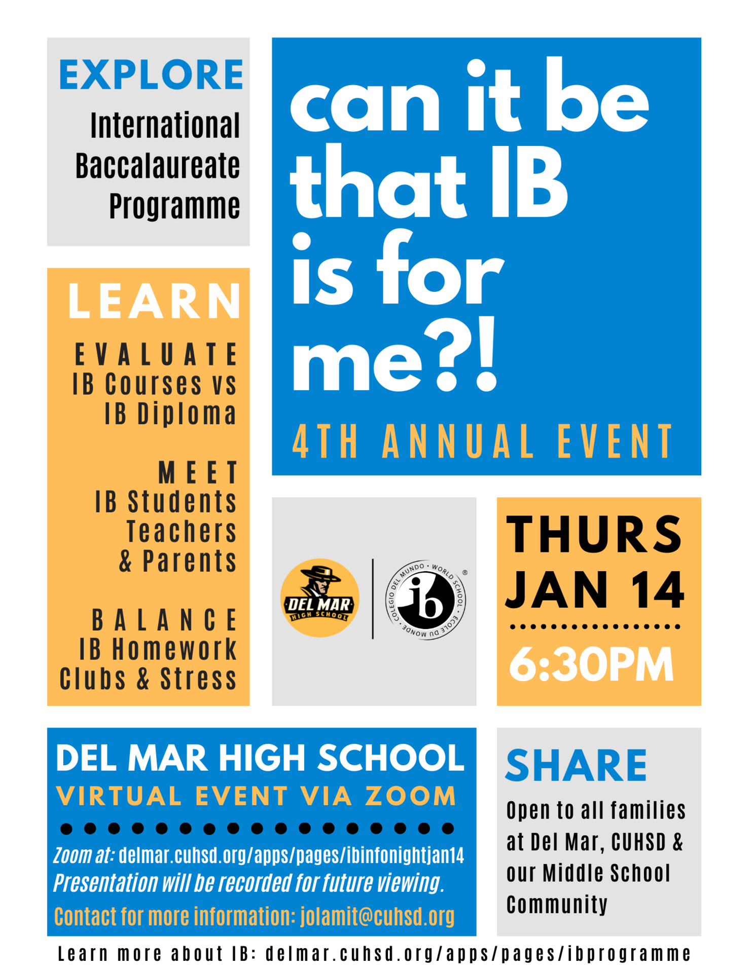ib info night on jan 14, 2021