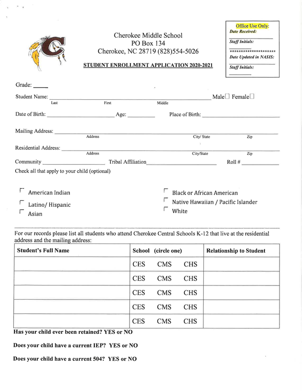 2020-2021 CMS Enrollment Packet
