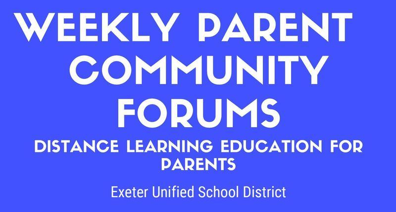 weekly community forum flyer
