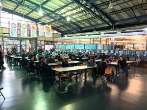 Robotics kickoff audience