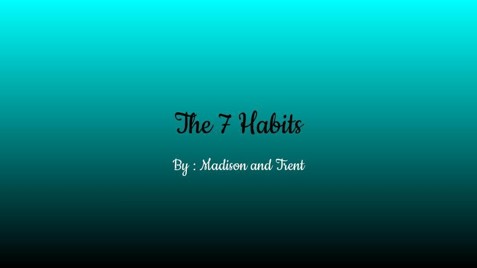 7 habits title slide