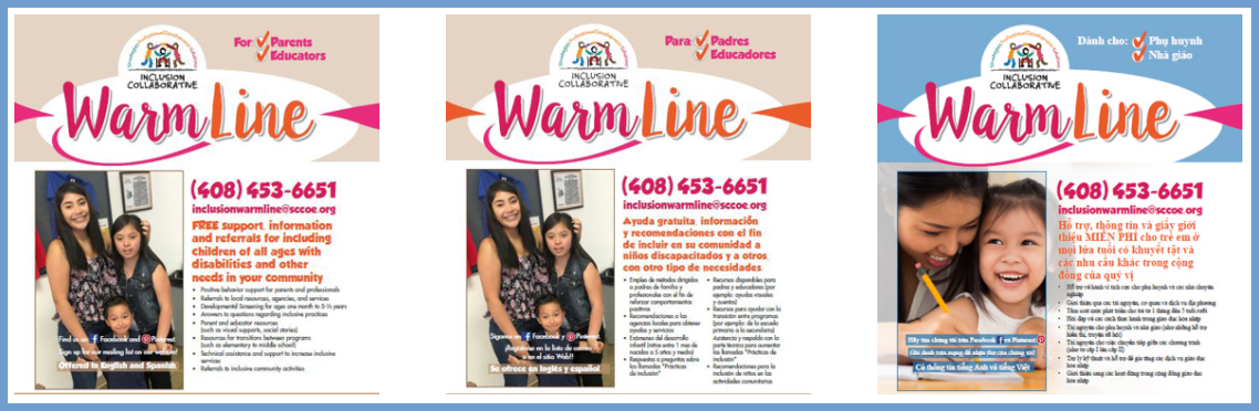 image of santa clara county office of education inclusion collaborative flyers