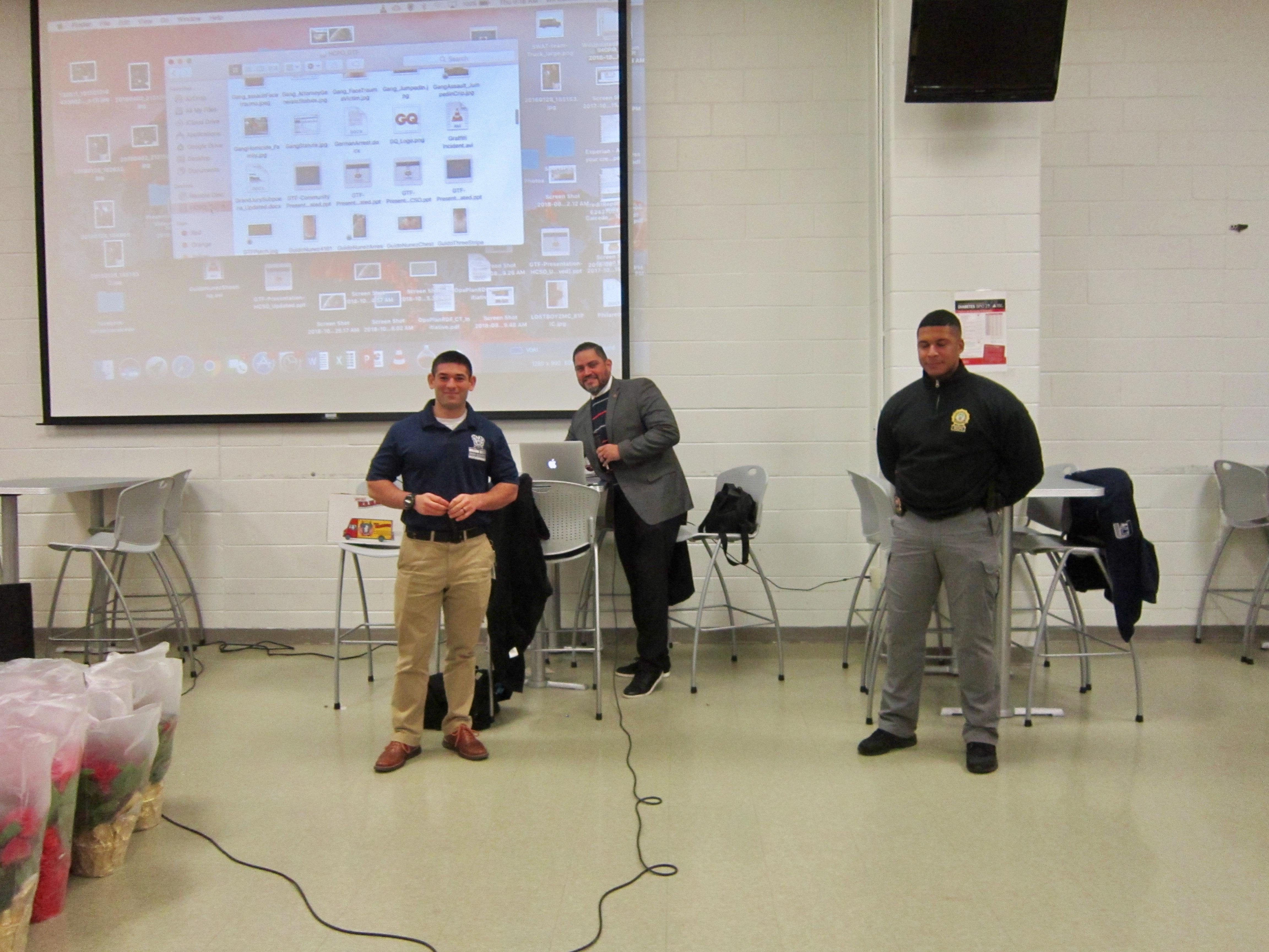 Mr. Roveda, Sgt. Willy Caicedo, & Det. Keith Sampson Substance Presenters