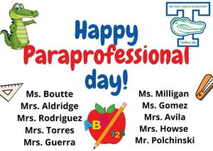 Happy Paraprofessional's Day Featured Photo