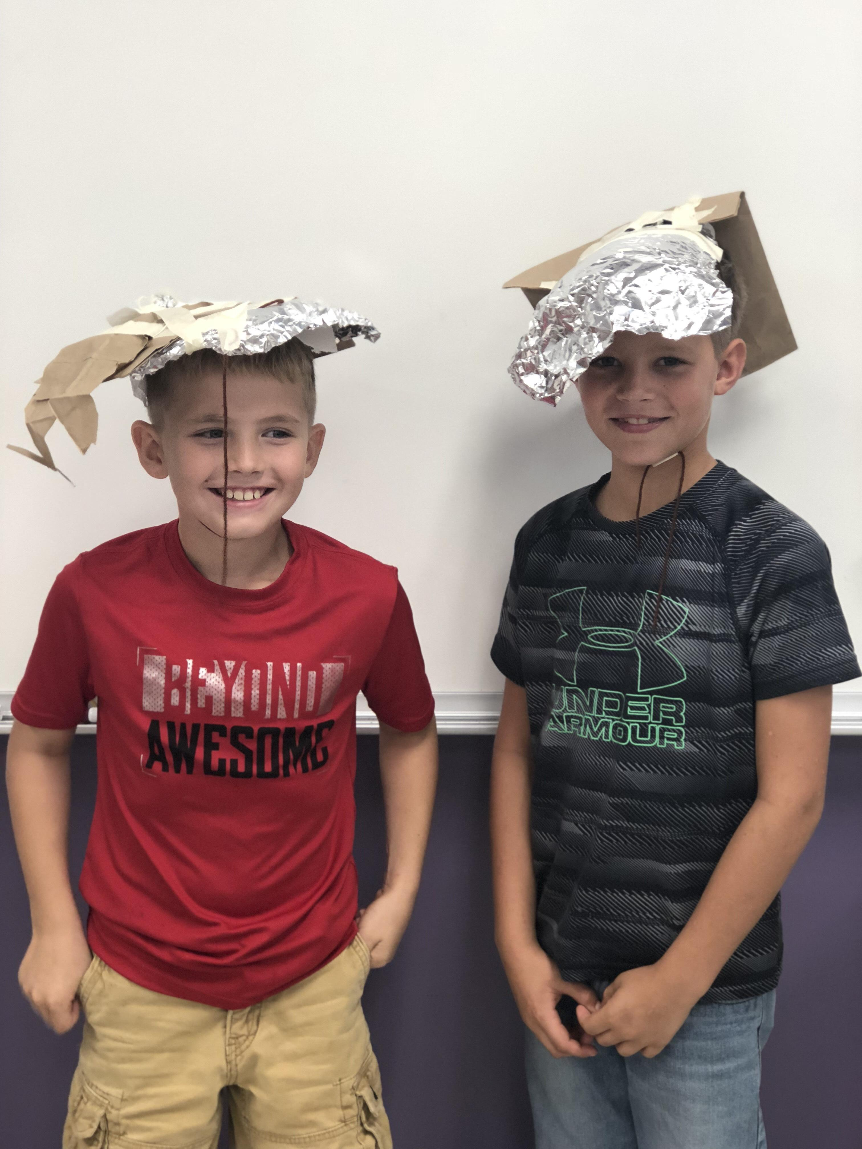Making hats in science!