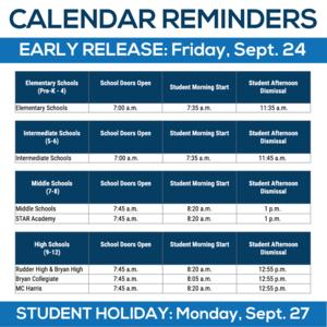Bryan ISD Calendar Reminder