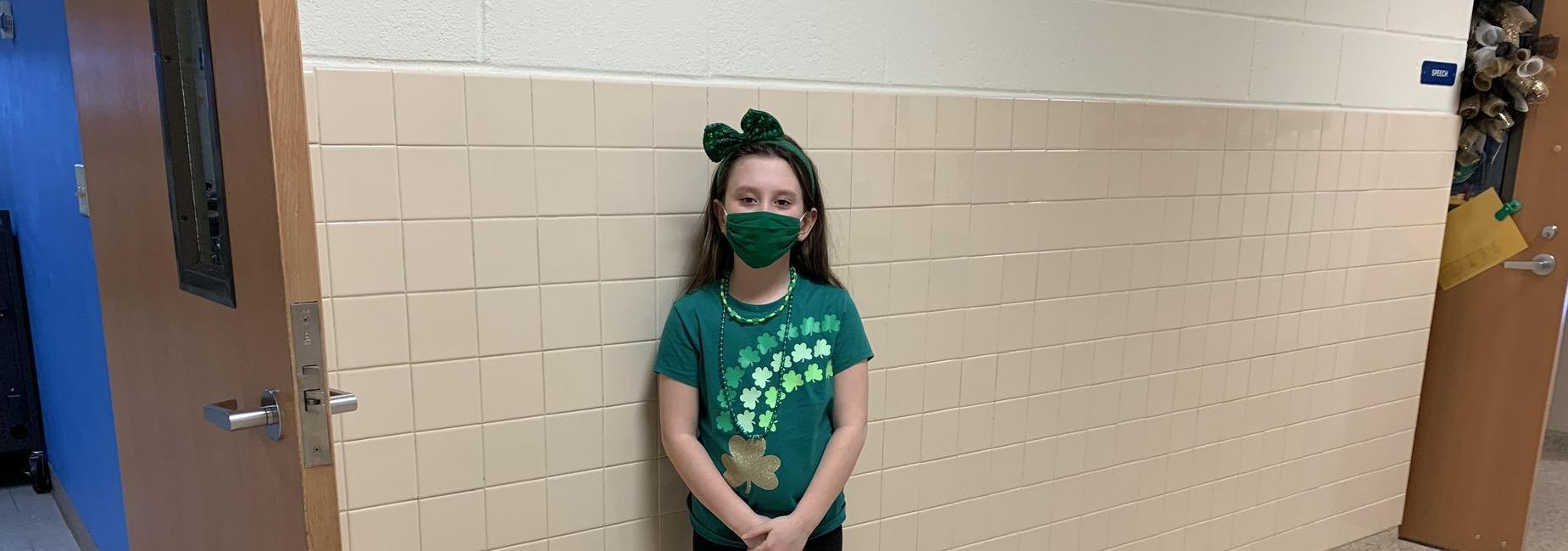 Girl in St. Patrick's celebration