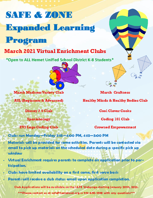 March Enrichment Club Application