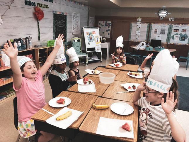 HWIS Immersion Summer Camp Junior Chefs Rejoicing