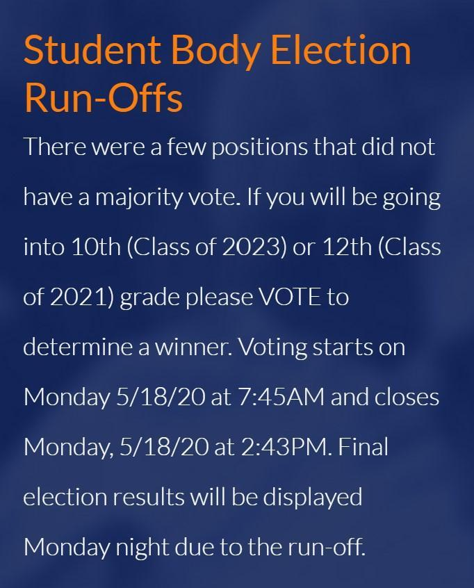 Student Body Elections Information
