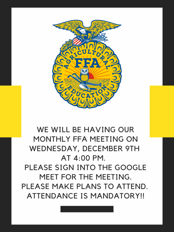 Monthly FFA Meeting Thumbnail Image