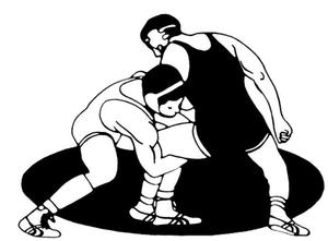 A picture of a wrestling match