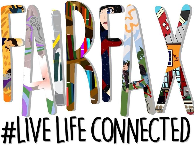 photo of live life connected mural