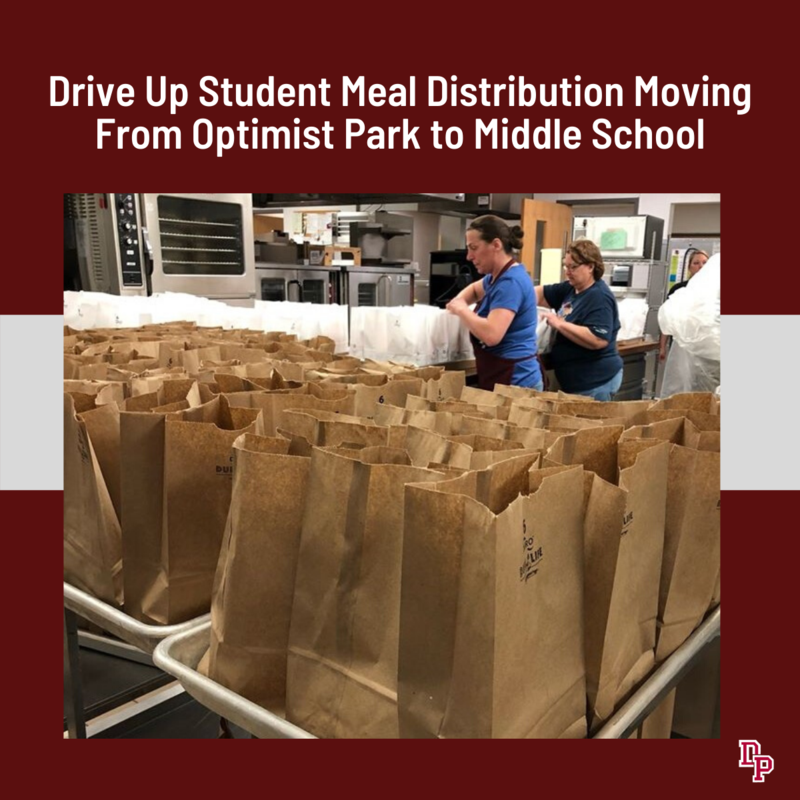 Drive Up Meal Site Moving to Middle School