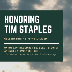 Celebration of Life for Tim Staples