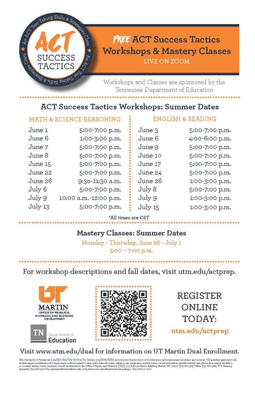 Free ACT Success Workshops