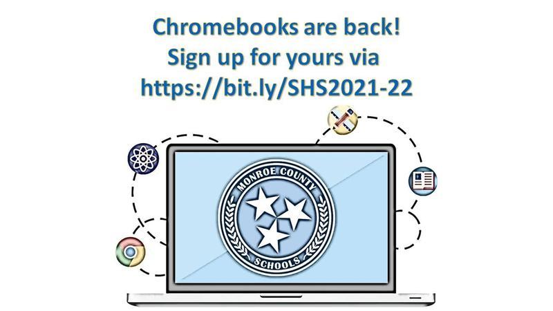 Chromebooks are back! Sign up for yours via https://bit.ly/SHS2021-22