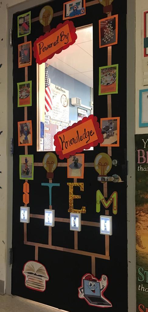 STEM Door Design with photos of activities