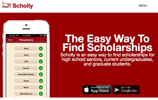 Scholly scholarship search engine