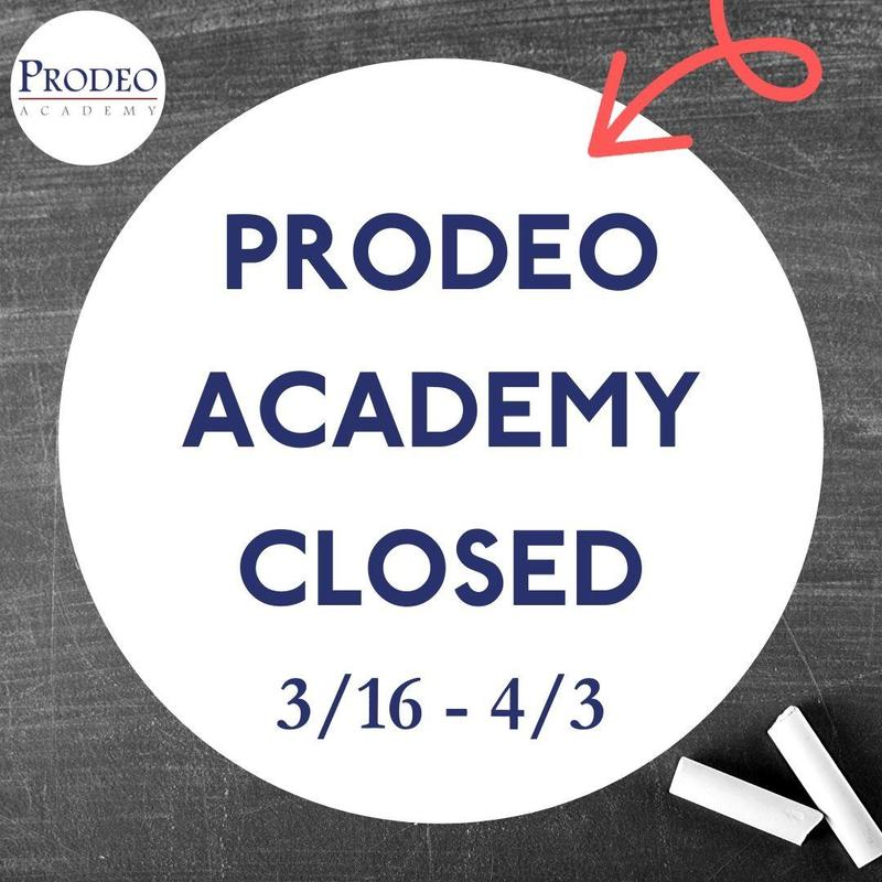 Prodeo Academy closed March 16 through April 3.