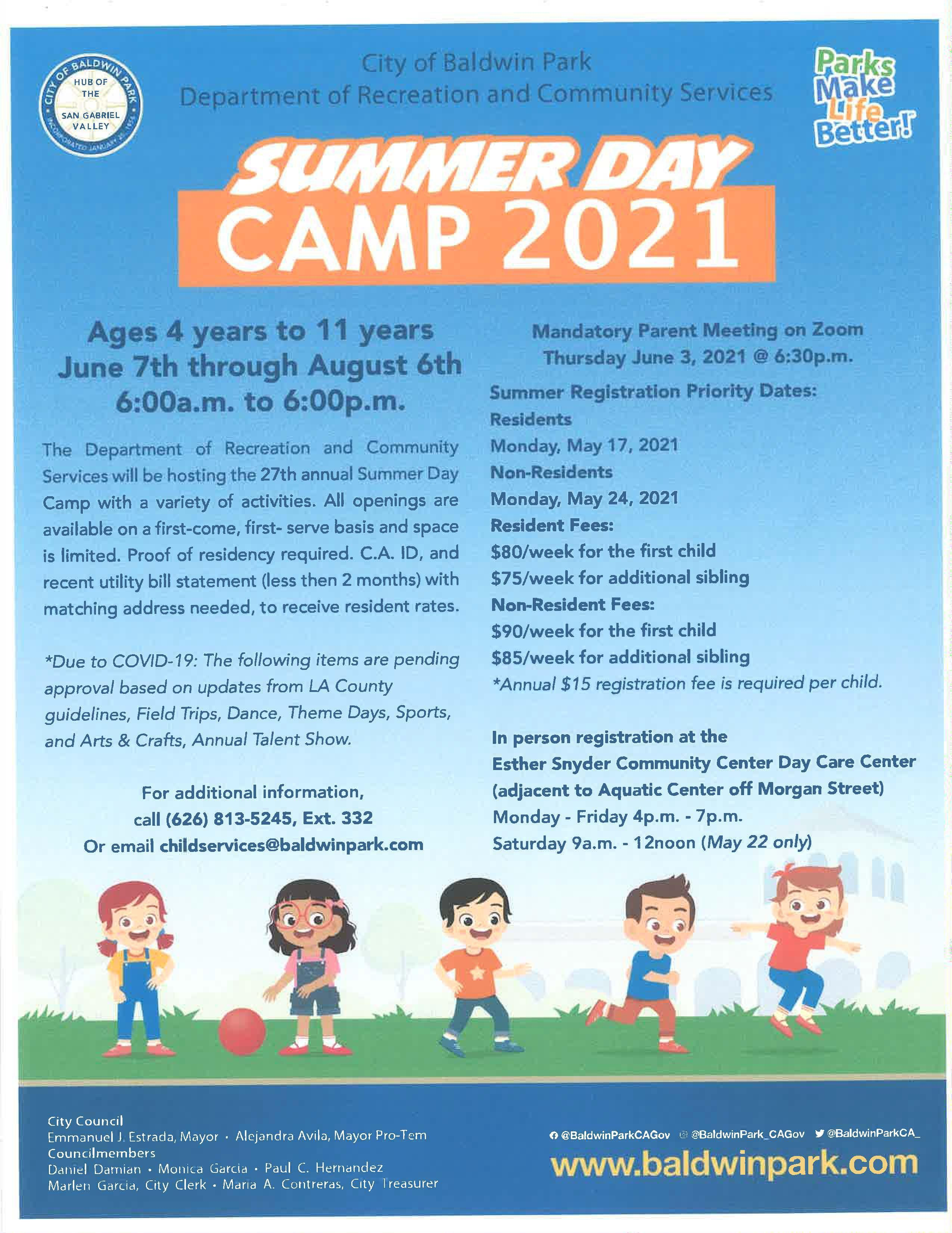 Summer Camp B.Pk 2021