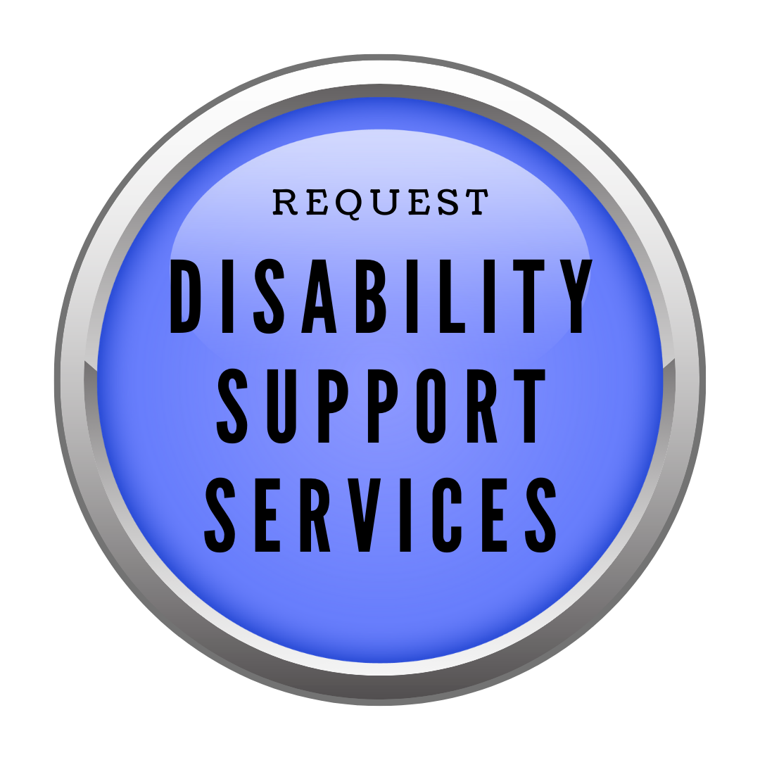 Blue button to request disability support services
