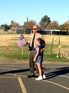 Maddy Honoring her dad, a proud First Responder