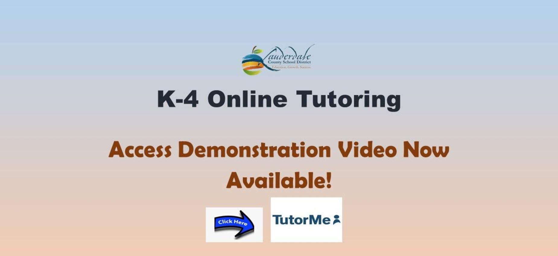 K-4 Online Tutoring Graphic