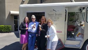 Sweet Beams Ice Cream truck surprises CUSD staff.