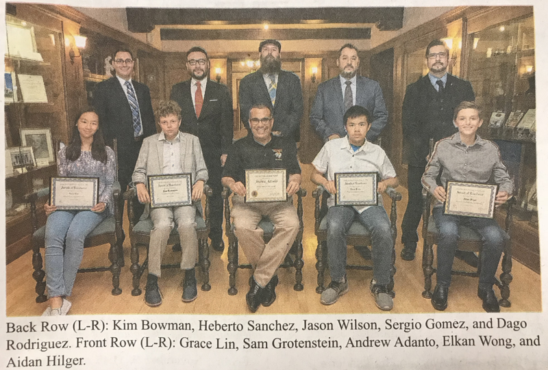 Local Feemasons Awards given to Mr. Adanto & Students Featured Photo