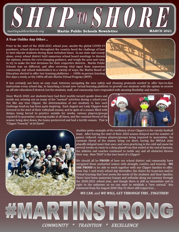 Ship to shore newsletter