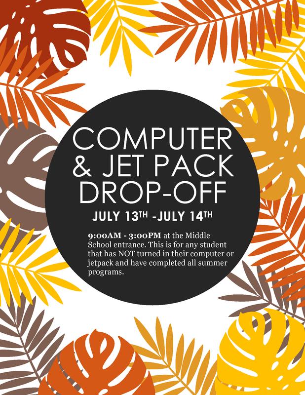 Computer & Jetpack Drop off Information