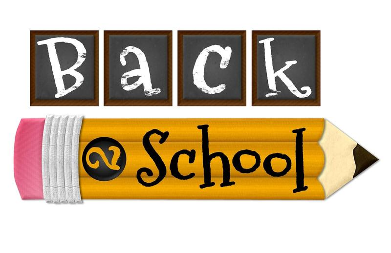 picture of a pencil and chalkboard saying back to school