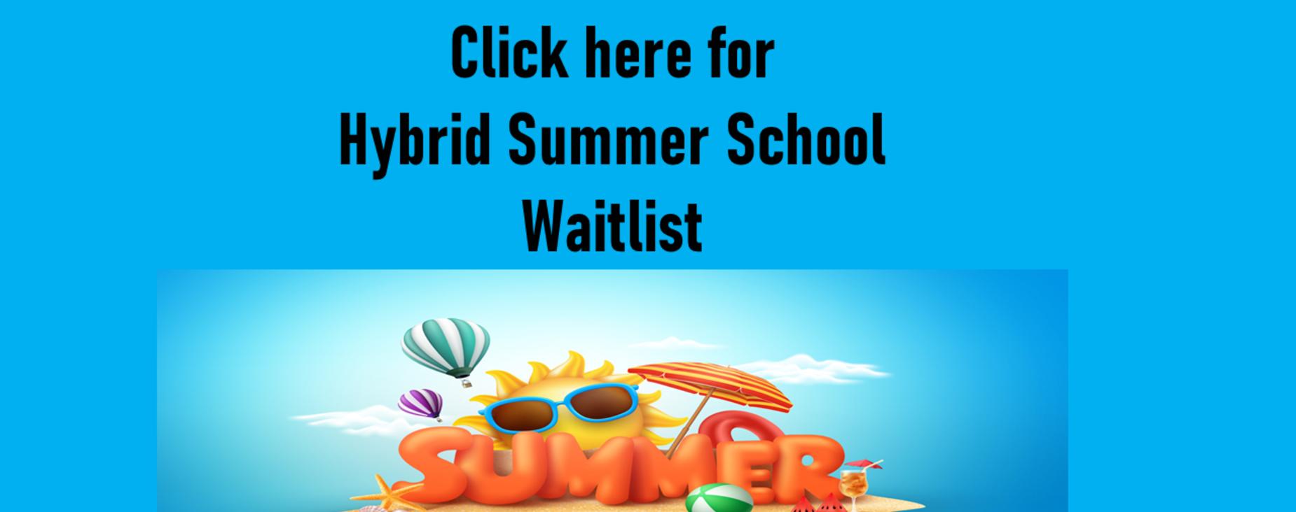 Summer School Waitlist