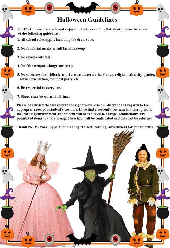 Halloween Guidelines image