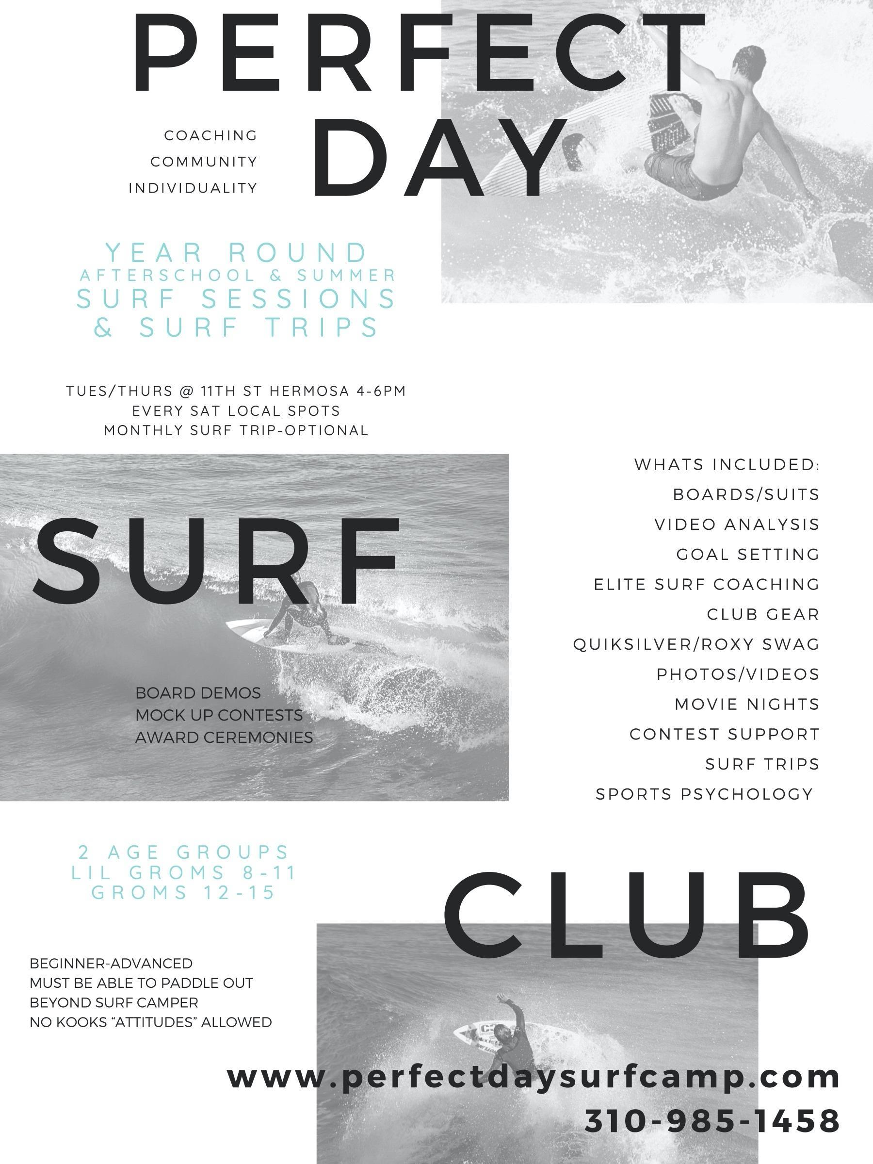 surf club ad
