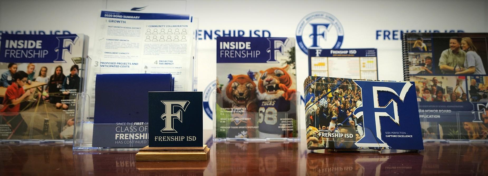photo collage of frenship publications