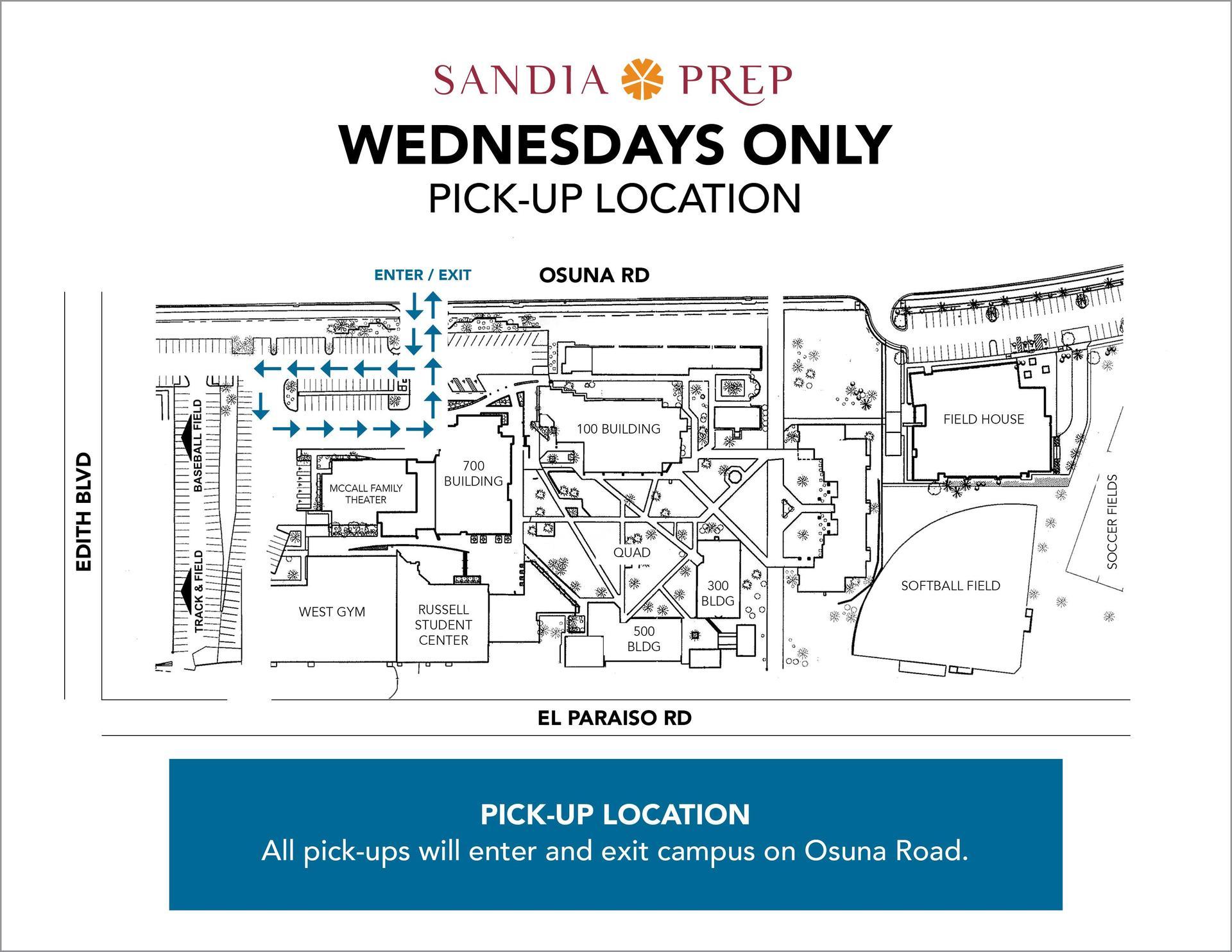 Wednesday Pickup Map