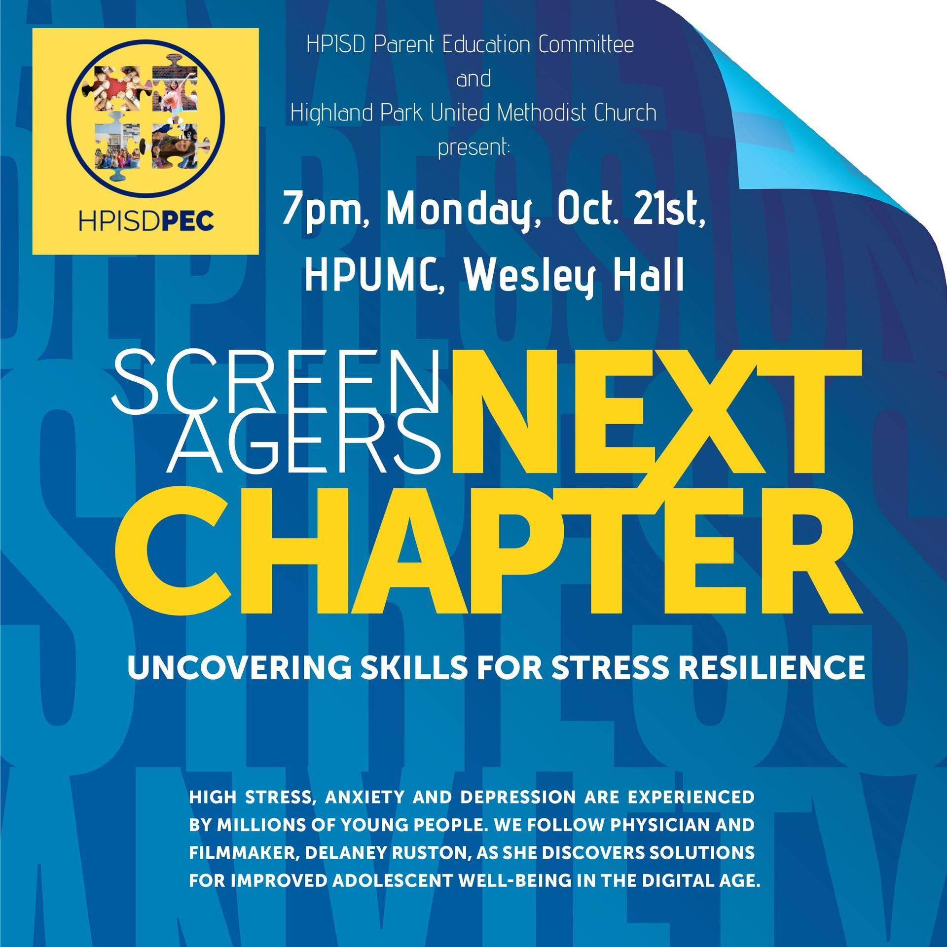 Screenagers event promo graphic