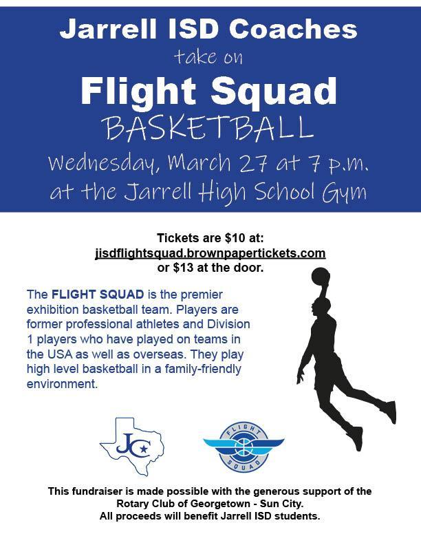 Flight Squad basketball fundraiser on March 27 at 7 p.m.