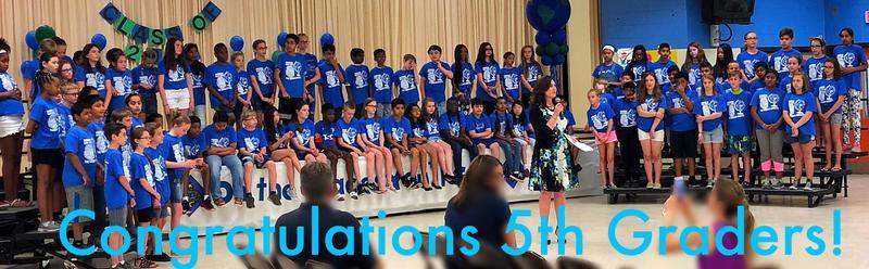 5th Graders at graduation