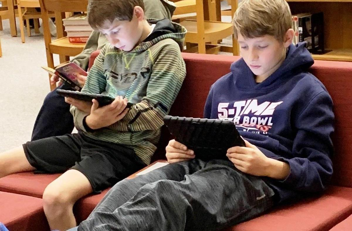 Learners in media center