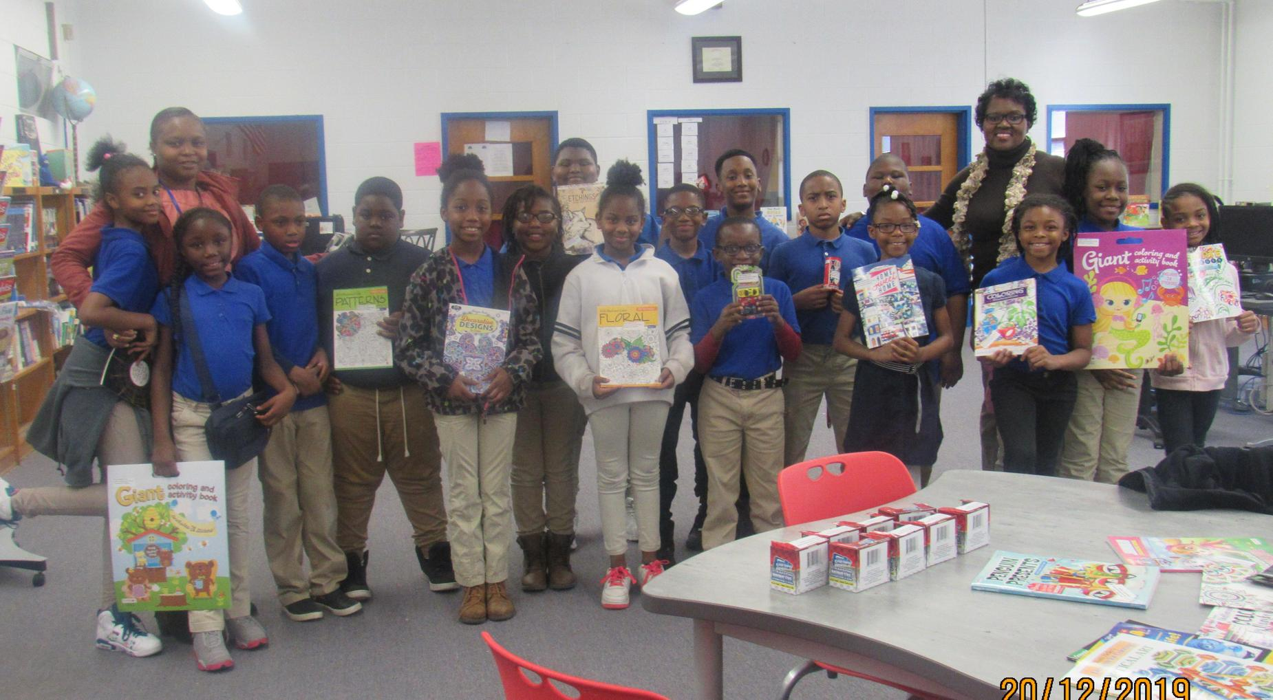 Season of Giving ~ Students received gifts from Principal Stukes