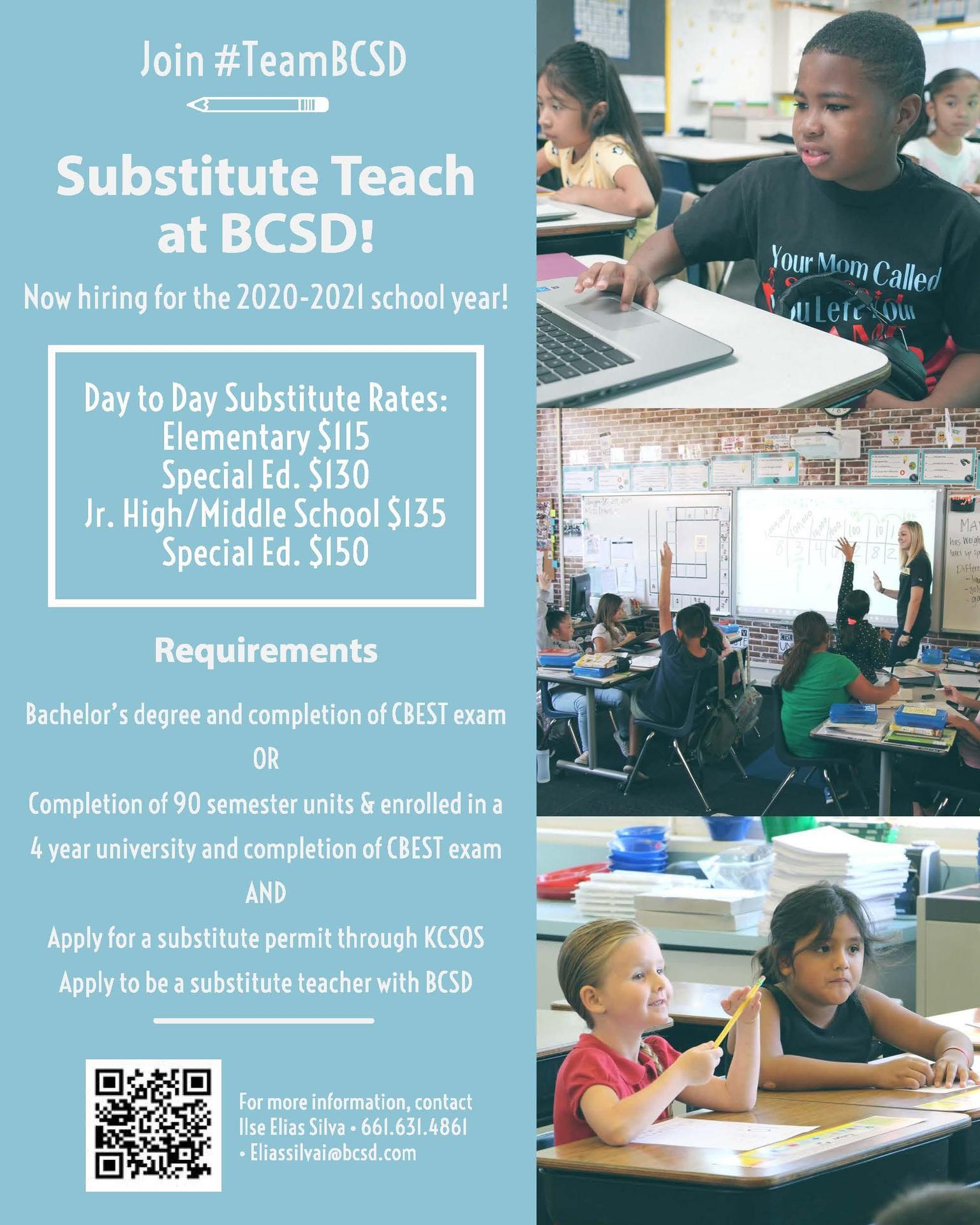 Substitute Teach at BCSD