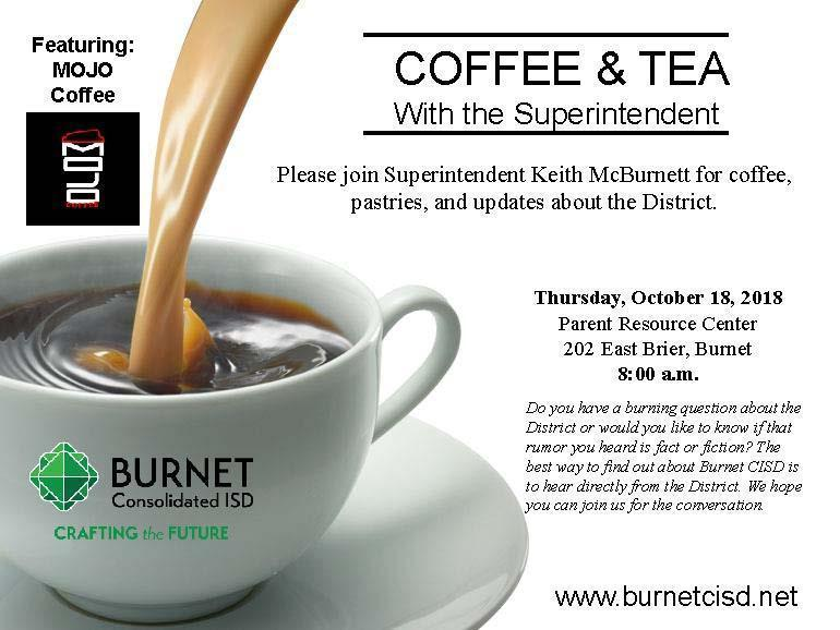 Coffee and Tea with the Superintendent Thumbnail Image