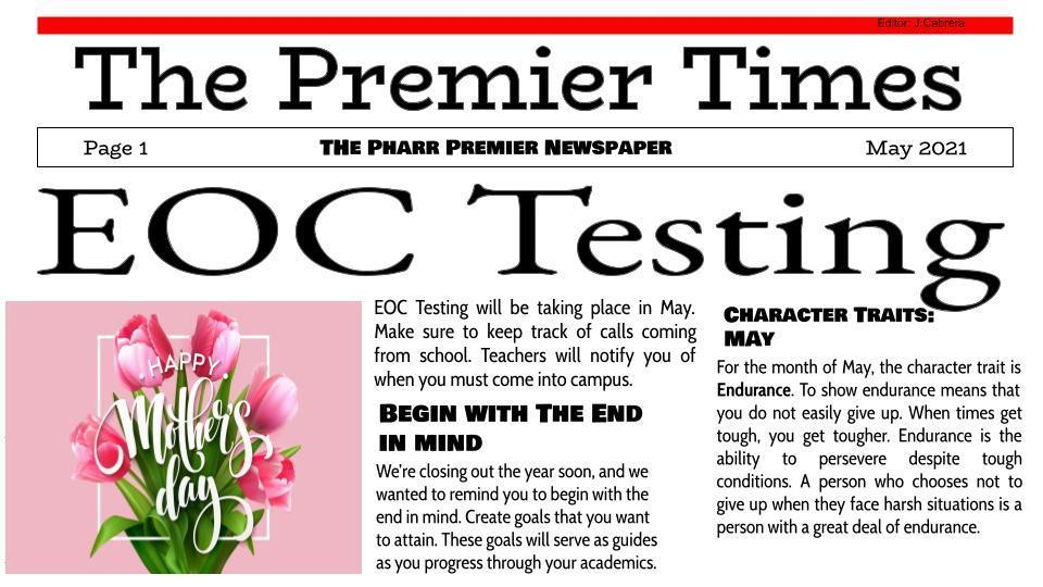 The Premier Times-Page 1
